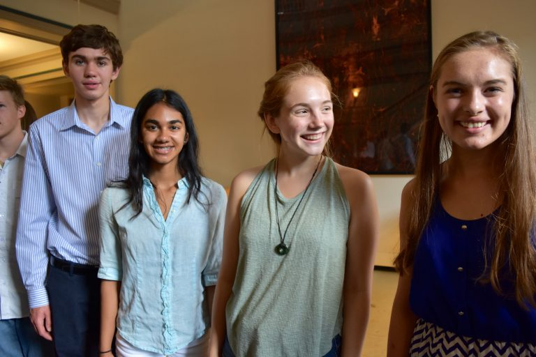 Students pose after doing research in Clinical Psychology Research three-week program