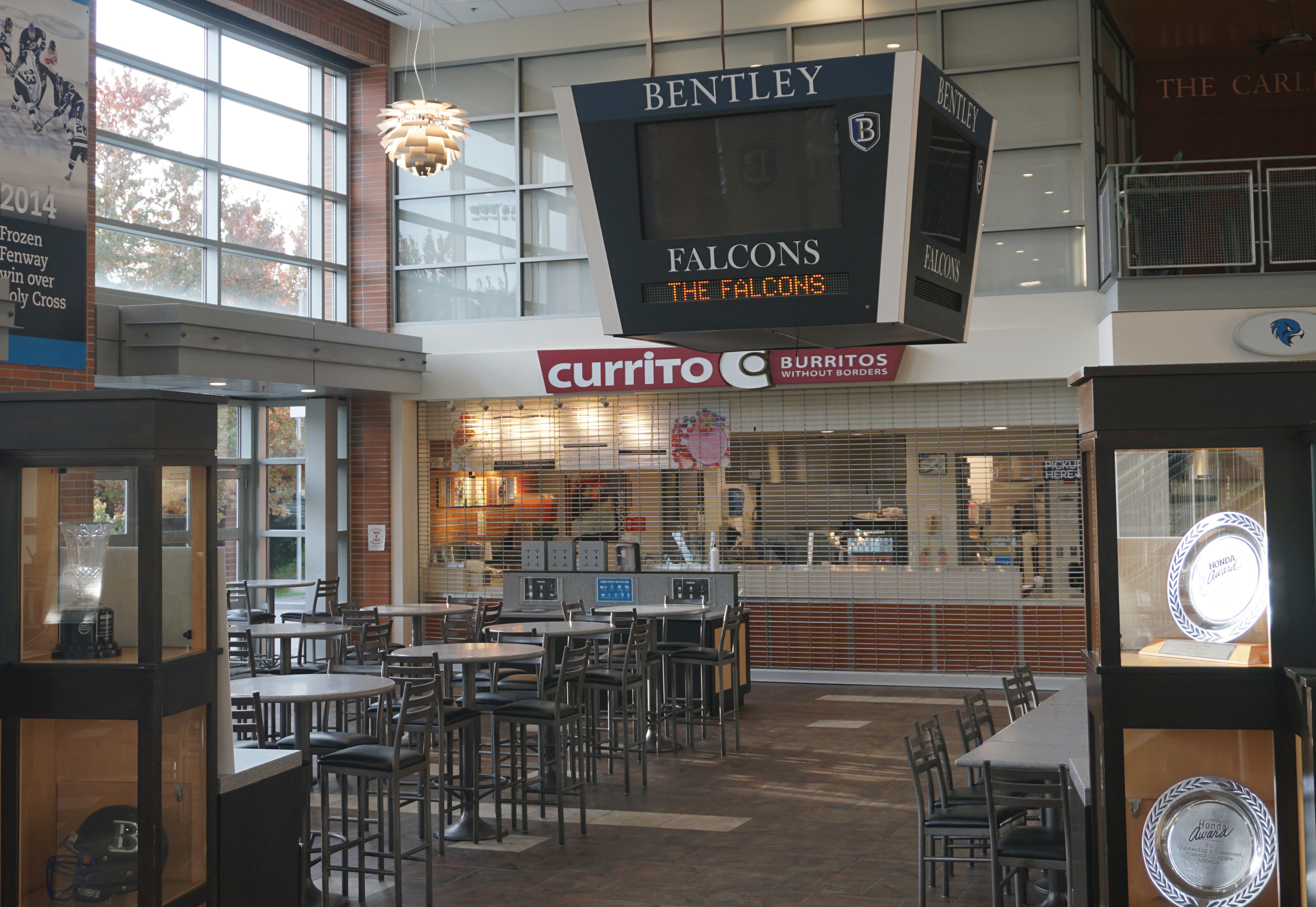 Cafe and coffee shop in Bentley University gym