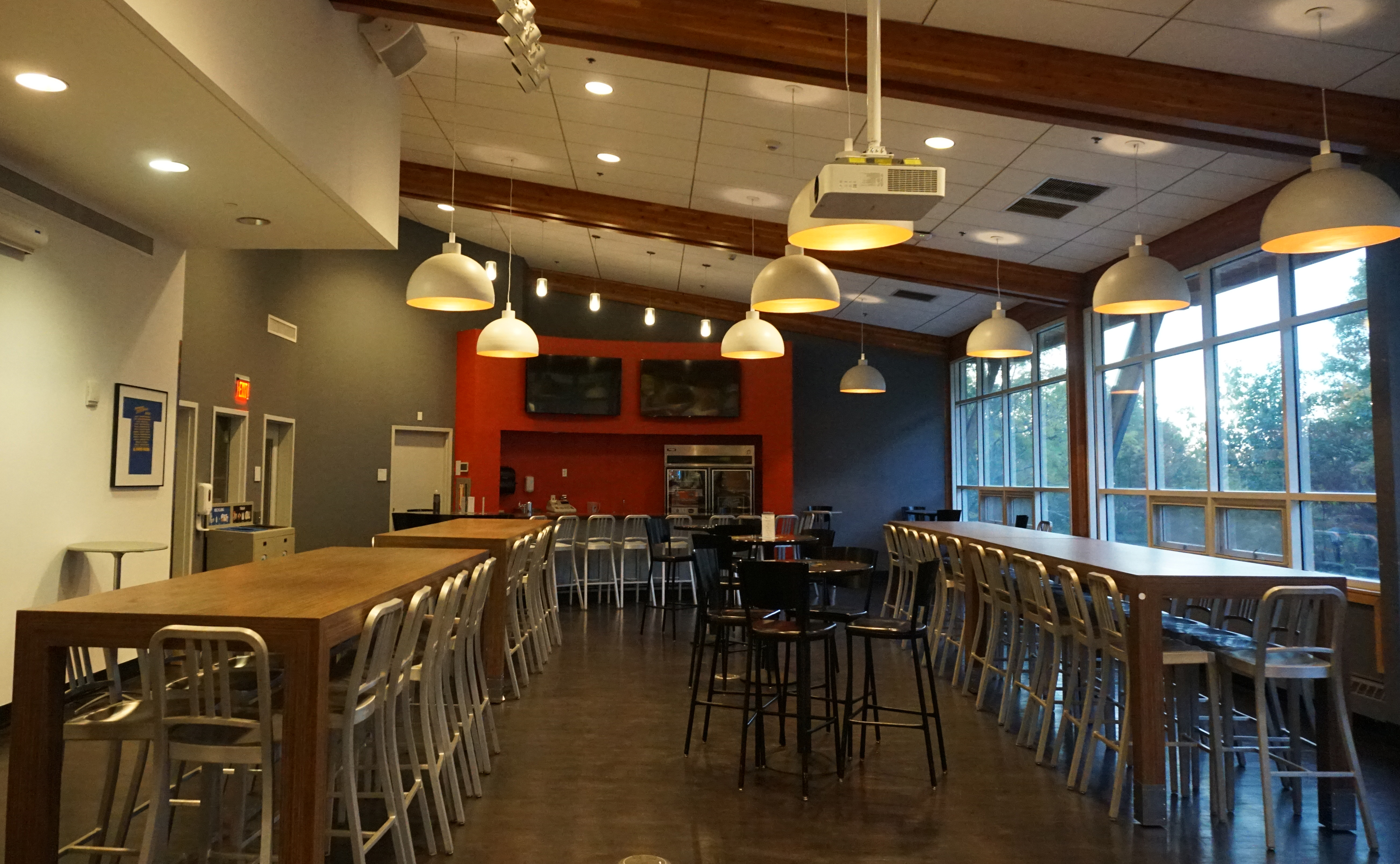 Dining hall in the student activities center at Bentley University