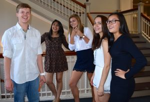 Students pose after doing research in Clinical Psychology three-week program