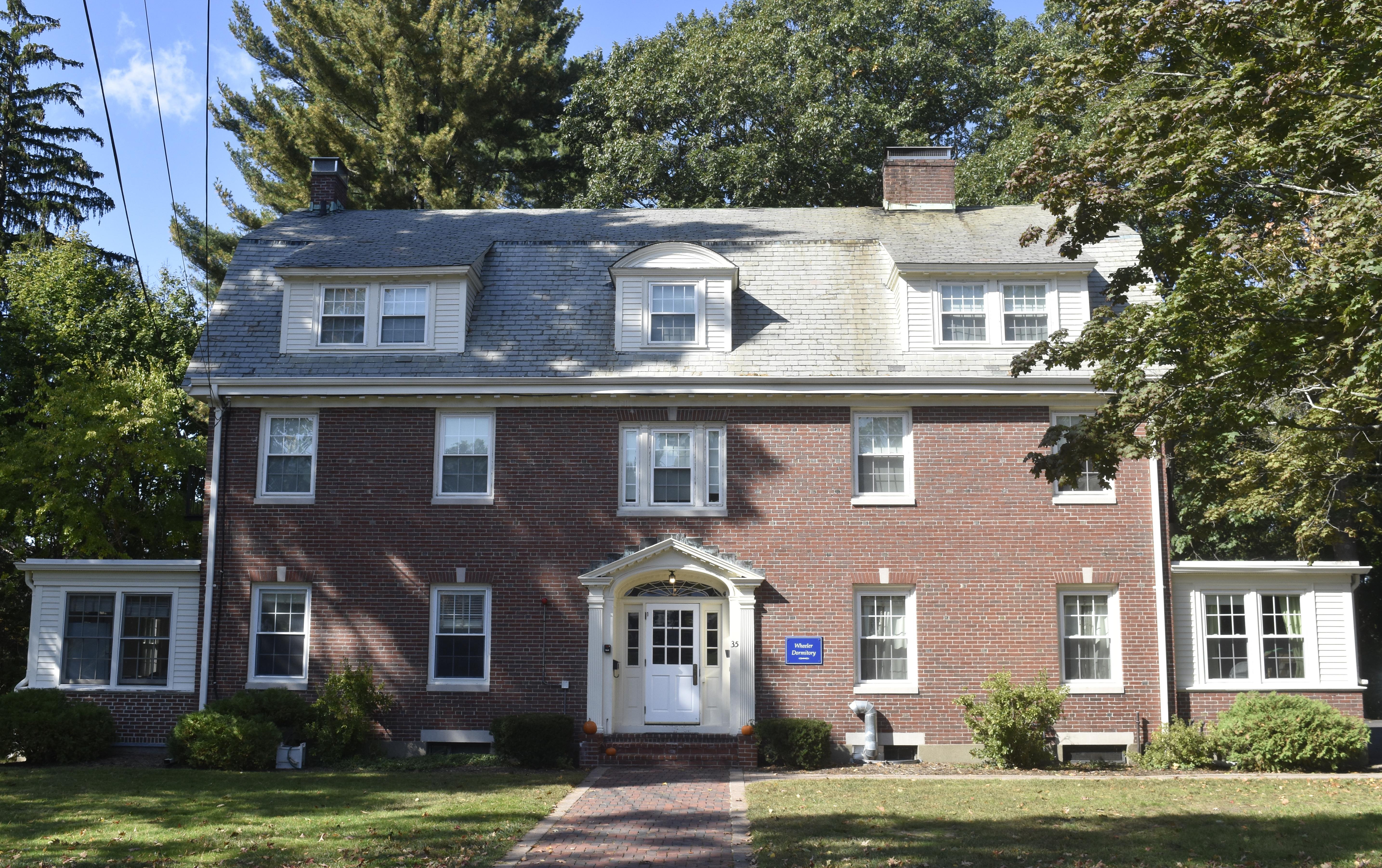 Dorm building in the Dana Hall campus