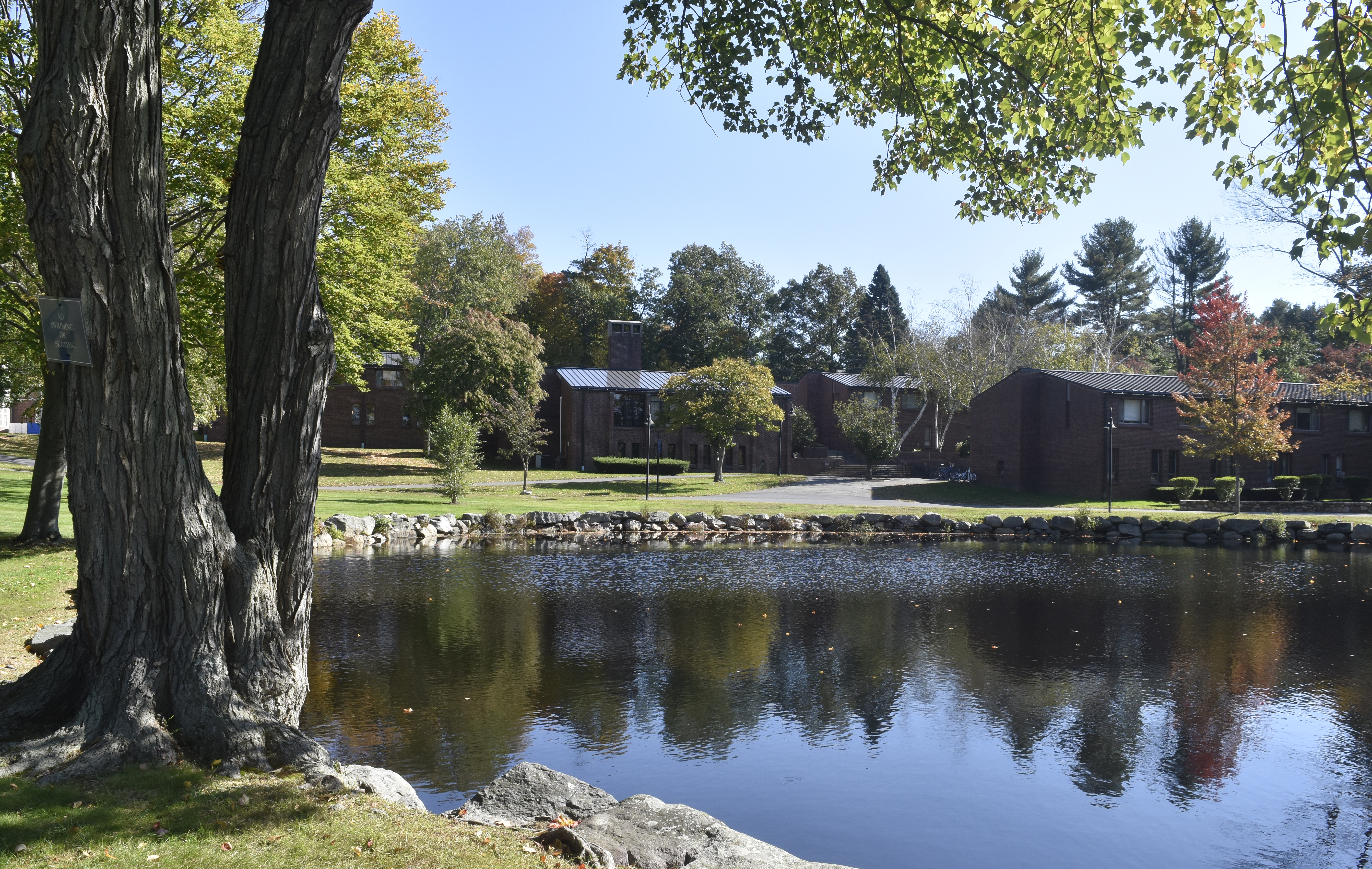 Pond in the center of the Dana Hall Campus