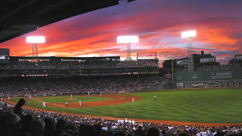 Students go on a field trip to Fenway Park in Boston to see a Baseball Game in the Sports Statistics one-week program