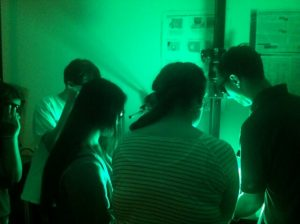 Students visit the Boston Police Crime Lab in the Forensic Science three-week program