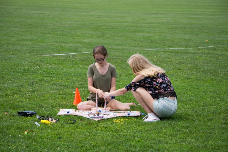 Students build plane in the Applied Physics and Engineering three-week summer program