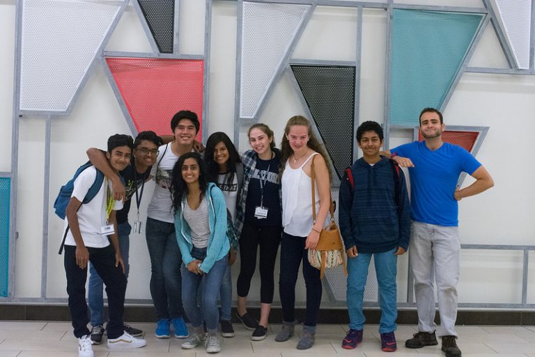 Students go on a field trip in the Biomedical Research Genetics and Clinical Trials three-week summer program