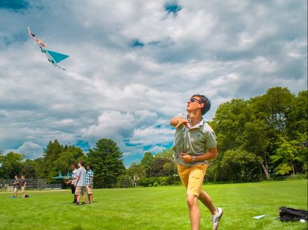 Student tests out airplane built in the Applied Physics and Engineering three-week summer program