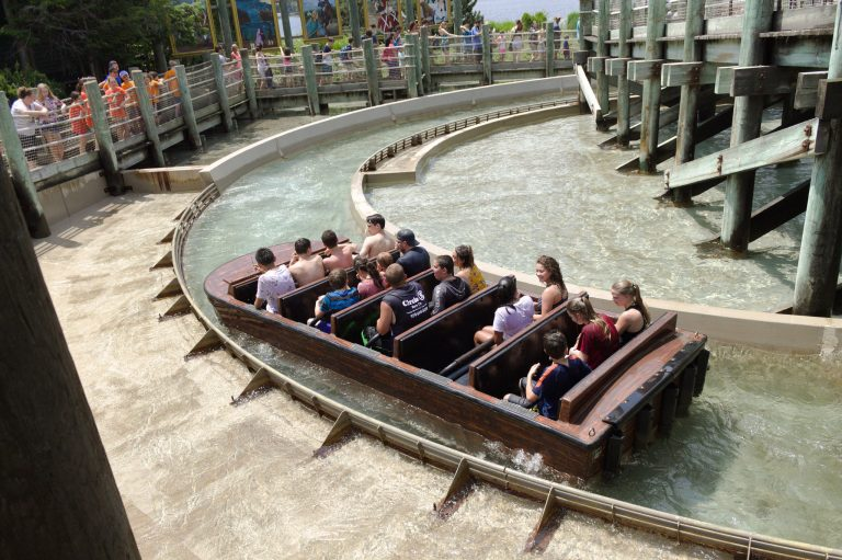 Students go on a ride on a field trip to Canobie Lake Park in the Applied Physics and Engineering three-week summer program