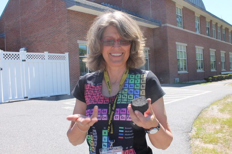 Teacher Ann Lambert in the field during the Chemistry Research three-week summer science program
