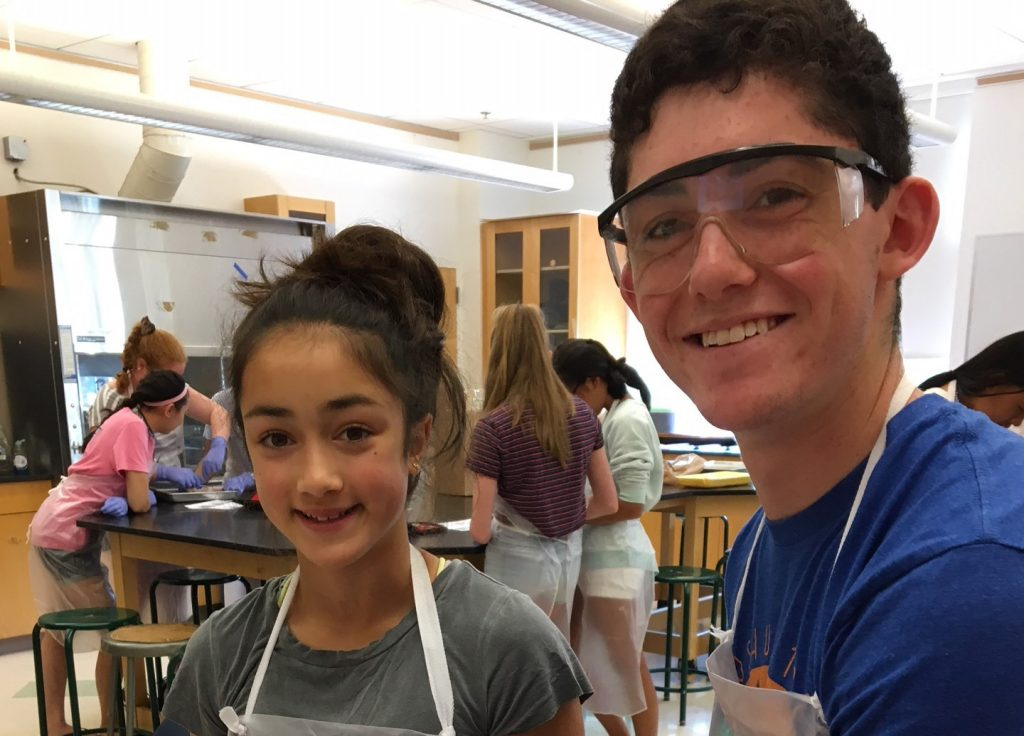 Students do an experiment in the Biology Edge one-week summer program
