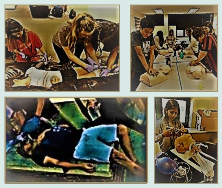 Students do experiments in the Emergency Medicine three-week summer medical program