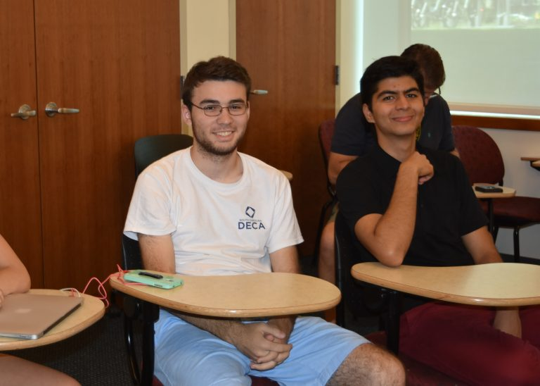 Students pose in the Geometry Edge one-week summer edge program