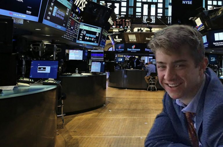 Student visits a stock trading room in the Investment Banking one-week summer program