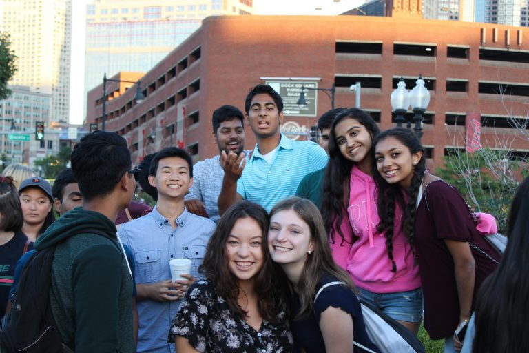 Students go on a trip in Boston