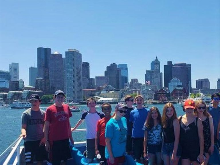 Students take a cruise off the coast of Boston in the Marine Biology three-week summer science program