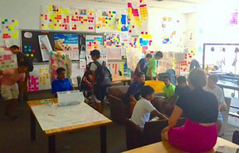 Students do research in the STEM Entrepreneurship three-week summer science program