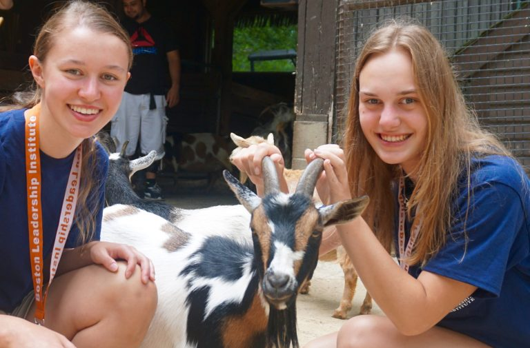Students visit the zoo in the Veterinary Medicine three-week summer medical program