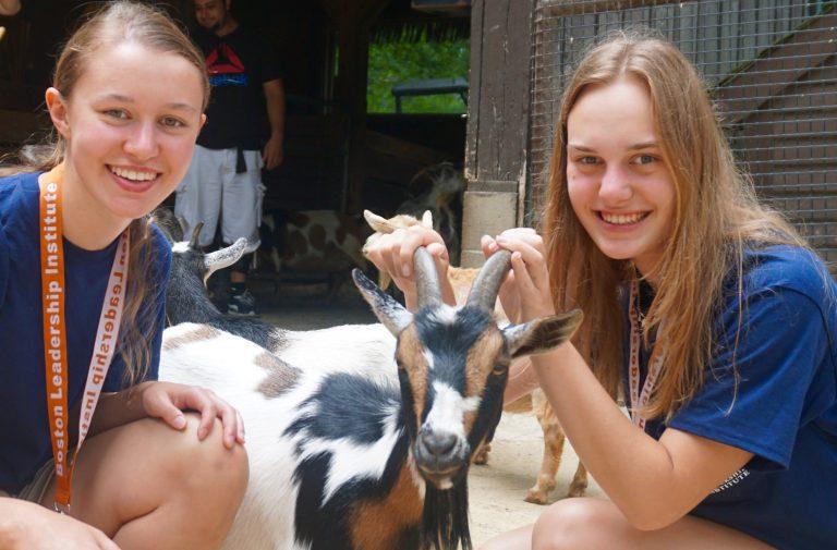 Students visit the zoo in the Veterinary Medicine three-week summer medical program