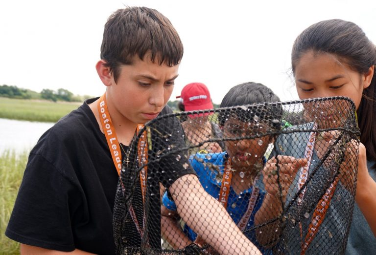 Students do fieldwork in the Marine Biology three-week summer science program