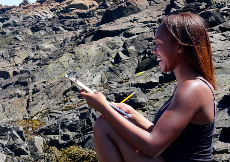 Student does research off the coast of Boston in the Marine Biology three-week summer science program