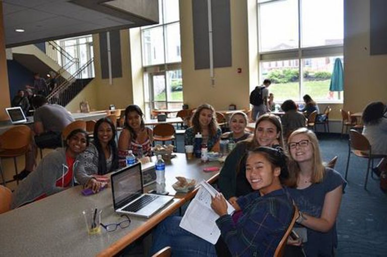 Students do research in the Big Data one-week summer business program