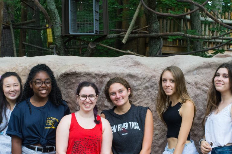 Students pose at the Southwick's Zoo in the Veterinary Medicine three-week summer medical program
