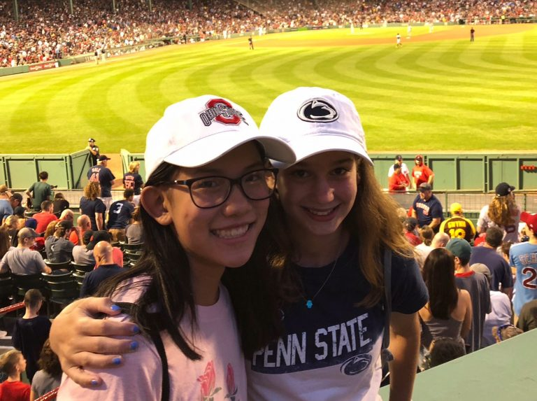 Students go to a Red Sox game in the Sports Statistics one-week summer business program