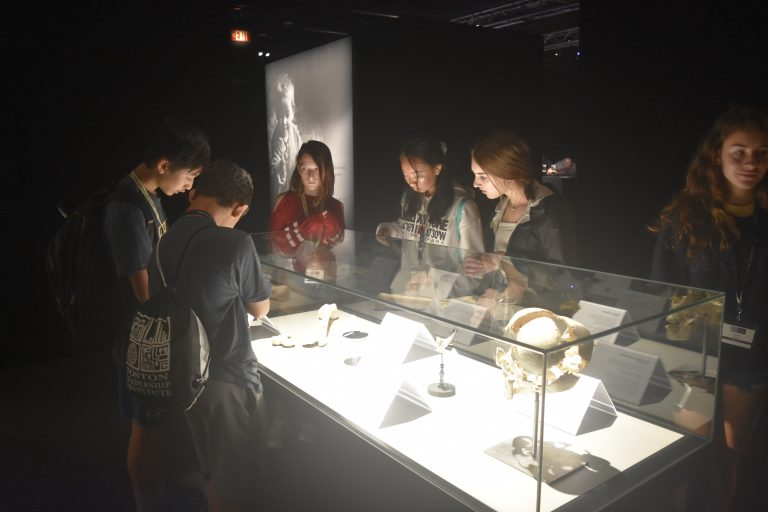Students go on a trip to the Museum of Science in the Anatomy One-Week summer medicine program