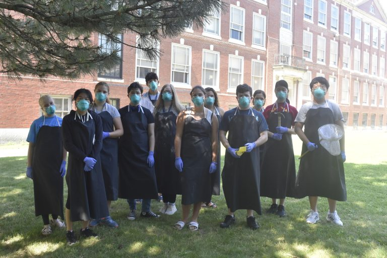 Students pose for a photo in the Forensic Science three-week summer science program