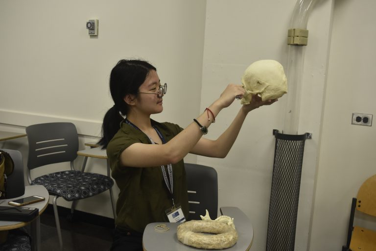 Student does research in the Forensic Science three-week summer science program