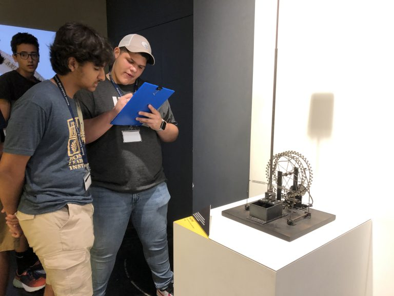 Students learn about technology in the Engineering: Electronics and Robotics three-week summer engineering program