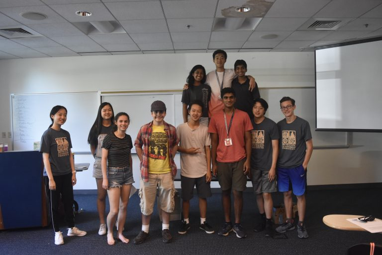 Students pose for a photo in the BioTech and Pharma Research three-week summer science program