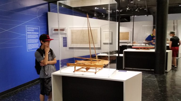 Students visit the MIT Museum in the Engineering Research three-week summer engineering program