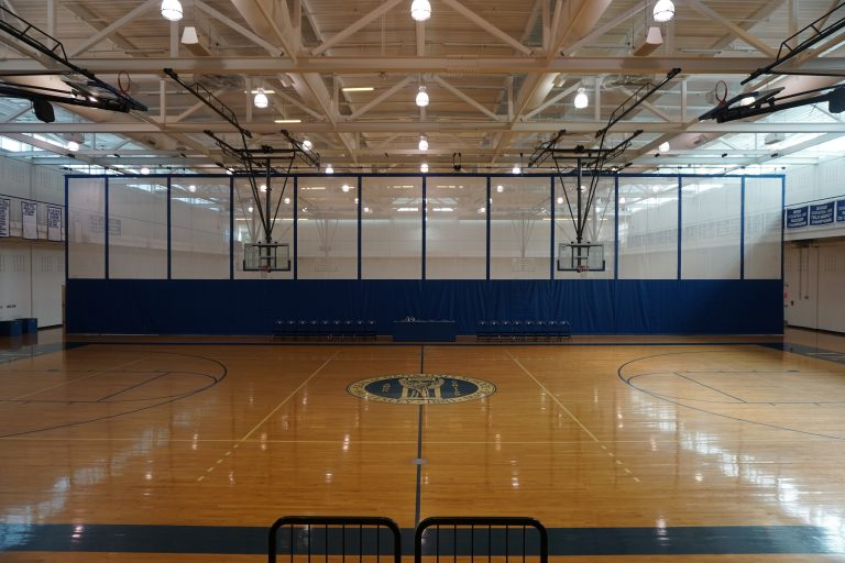 Indoor gym in the Dana Hall School campus