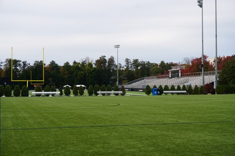 Football field at the Bentley University campus