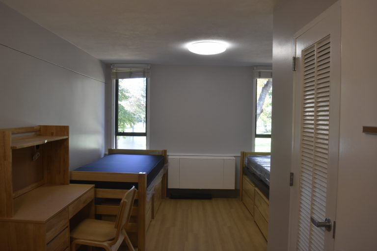 Dorm room in the Dana Hall School campus