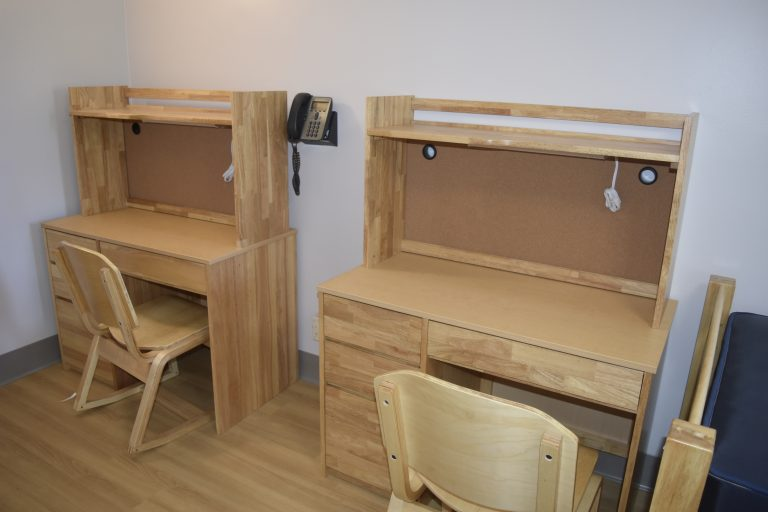 Dorm room in the Dana Hall School campus