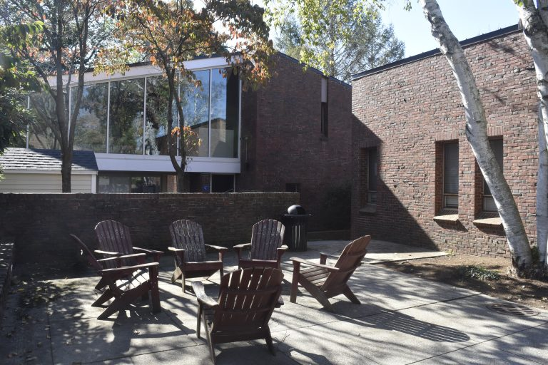 Courtyard between the Dana Hall School dorms