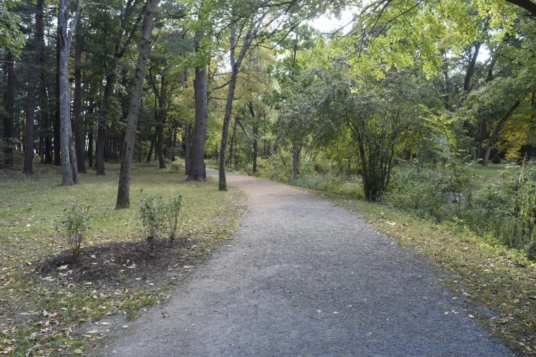 Walking trail at the Dana Hall School Campus