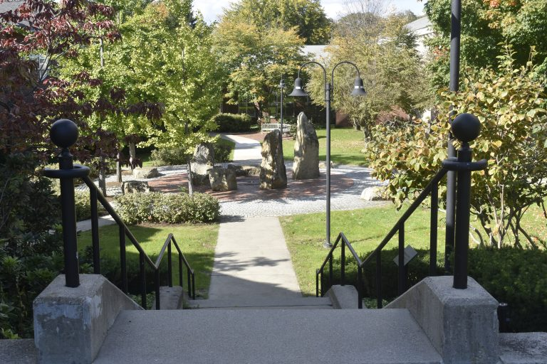 Stone garden in the Dana Hall School campus