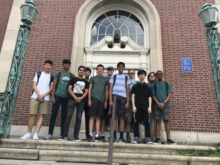 Students pose for a photo in the Engineering Research three-week summer engineering program