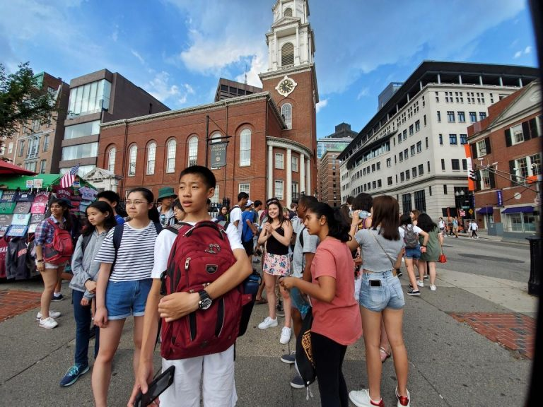 Students visit Boston at the Longwood campus
