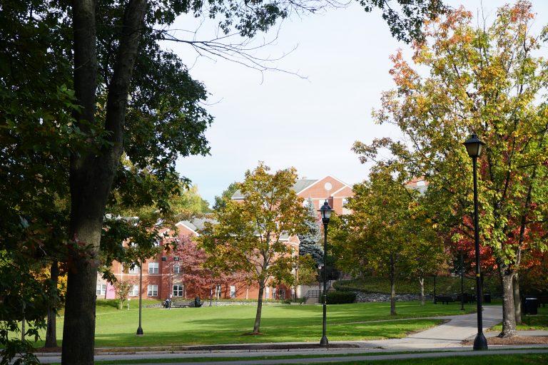 Dorms at the Bentley University campus