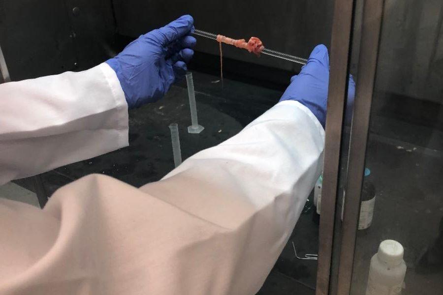polymer lab coat in hood